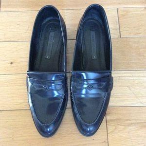Zara navy loafers